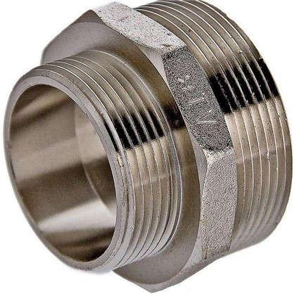 Ниппель переходной Valtec наружная-наружная резьба 1 1/4х1 никелированная латунь