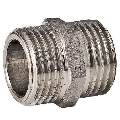 Ниппель Valtec наружная-наружная резьба 2 мм никелированная латунь