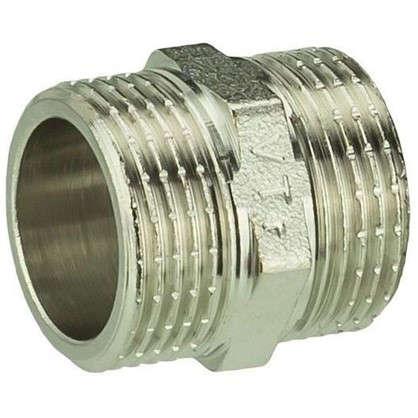 Ниппель Valtec наружная резьба 3/4 мм никелированная латунь