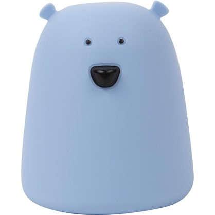 Купить Ночник светодиодный Мишка IP44 цвет голубой дешевле