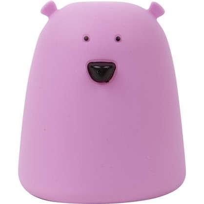 Ночник светодиодный Мишка IP44 цвет розовый