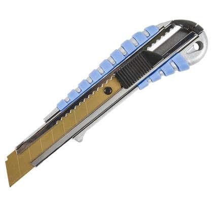 Купить Нож 18 мм металлический корпус лезвие с титановым покрытием дешевле