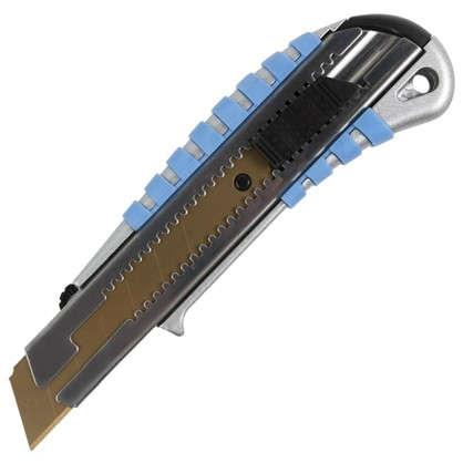 Нож 25 мм металлический корпус лезвие с титановым покрытием
