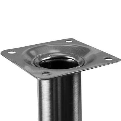Купить Ножка круглая 700х30 мм цвет никель дешевле