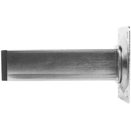 Купить Ножка квадратная 100х25х25 мм цвет никель дешевле