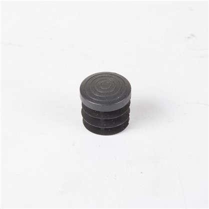 Купить Ножка-заглушка d 25 мм пластик цвет черный дешевле
