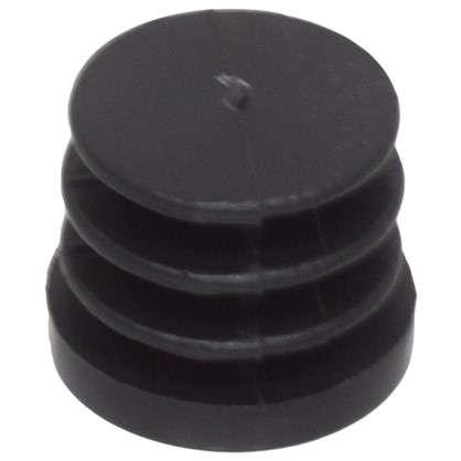Купить Ножка-заглушка наружняя 25 мм пластик цвет черный дешевле