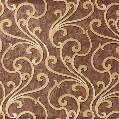 Обои 1.06х10 м орнамент цвет коричневый ЭР4373-7