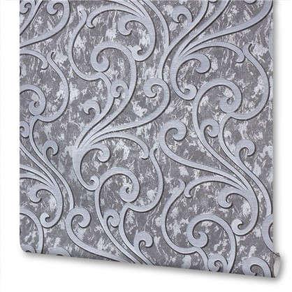 Обои 1.06х10 м орнамент цвет серый ЭР4373-6