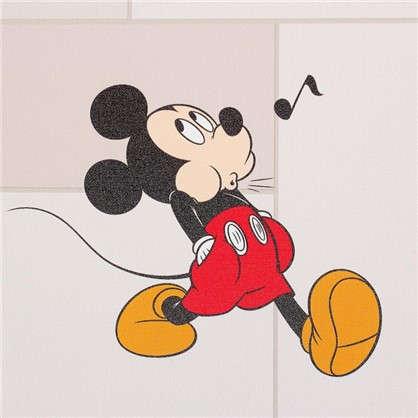Обои 106х10 м флизелиновые бежевые рисунок Микки Маус