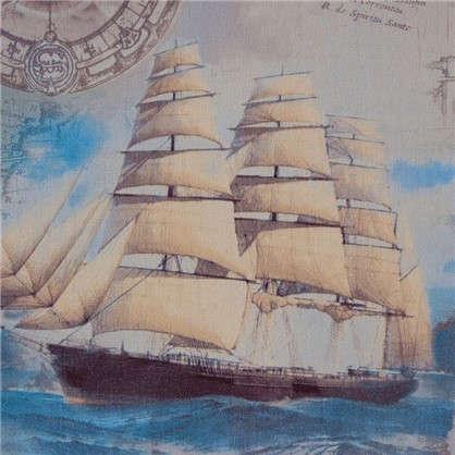 Обои 106х10м Корабль цвет бежевый ЭР3758-2