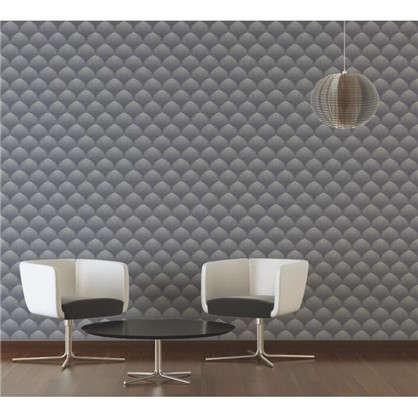 Обои Абстракция флизелиновые цвет серый 0.53х10 м