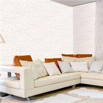 Обои Абстракция виниловые цвет белый 1.06х10 м