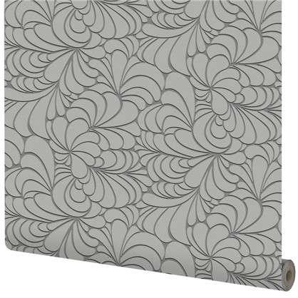 Обои Абстракция виниловые цвет серый 1.06х10 м
