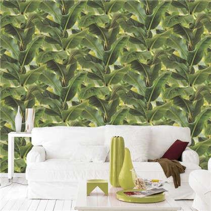 Обои Бананы RA 473407 на флизелиновой основе цвет зеленый 0.53х10 м