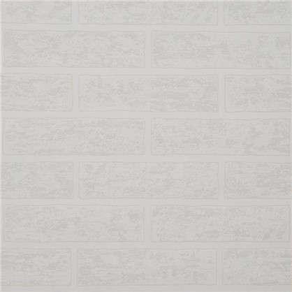 Обои Brick 38335-01 на бумажной основе цвет белый 0.53х10.05 м