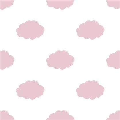 Обои бумажные для детской Облака 0.53х10 м цвет розовый Вимала 1234