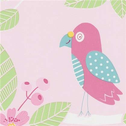 Обои бумажные для детской Птицы 0.53х10.05 м цвет розовый