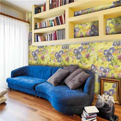 Обои бумажные Голландия 0.53х10 м цветы цвет бежево-сиреневый 04