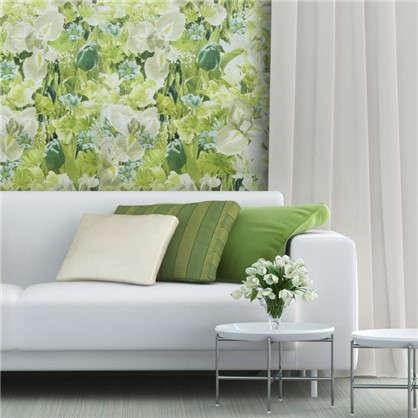 Обои бумажные Голландия 0.53х10 м цветы цвет зеленый 03
