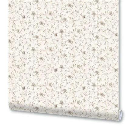 Обои бумажные Луиза 0.53х10 м цветы цвет серый 5135-22