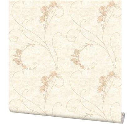 Обои Цветы 7347-12 на флизелиновой основе цвет белый 1.06х10 м