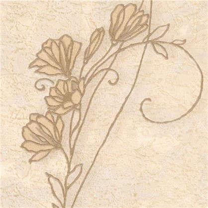 Обои Цветы 7347-28 на флизелиновой основе цвет бежевый 1.06х10 м
