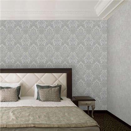 Обои Damaschi PI20301 флизелиновые цвет серый 1.06х10 м