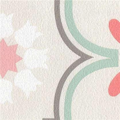 Обои Дамаск бумажные цвет кремовый 0.53х10 м