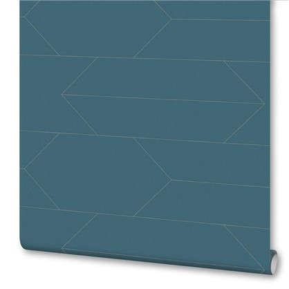 Обои Доски АС 348683 цвет синий 0.53х10 м