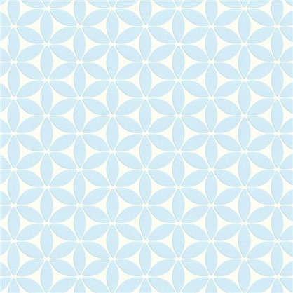 Обои флизелиновые 0.53х10 м цвет голубой 469132