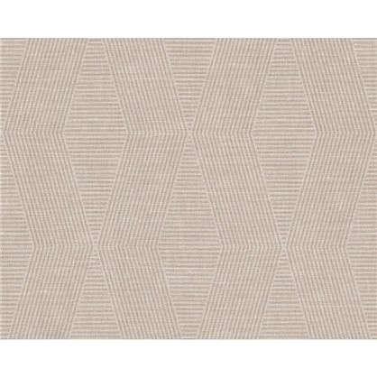 Обои флизелиновые 0.53х10 м геометрия цвет коричневый АС 342182