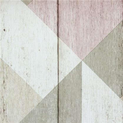 Обои флизелиновые 0.53х10 м узоры цвет розовый Id UN 3204