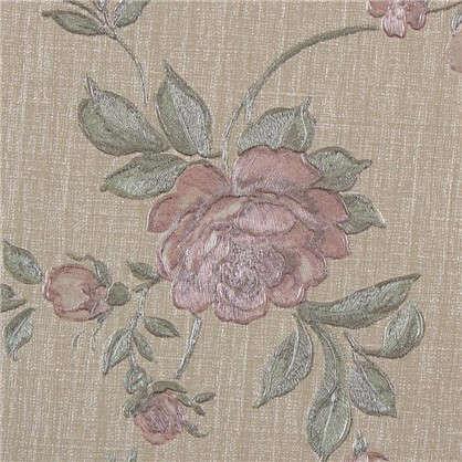 Обои флизелиновые 1.06х10 м цветы розовые ЭР 3525-7