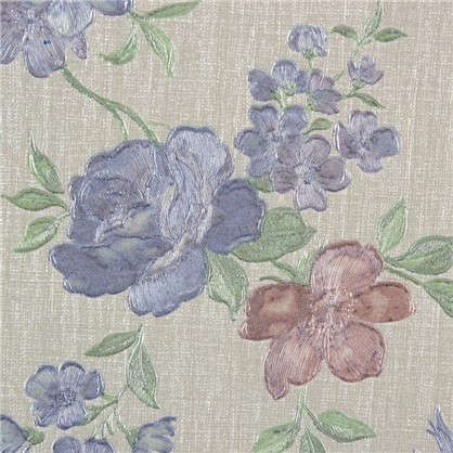 Обои флизелиновые 1.06х10 м цветы синие ЭР 3525-5
