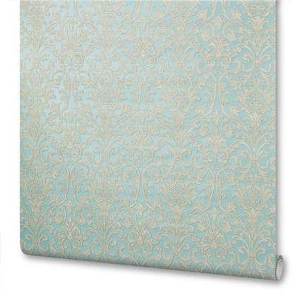 Обои флизелиновые 1.06х10 м дамаск цвет голубой ED 4381-5
