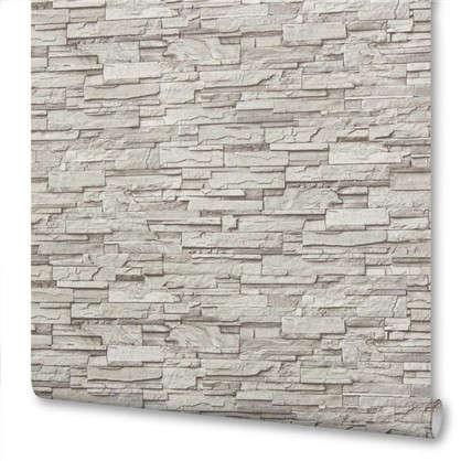 Обои флизелиновые 1.06х10 м камень цвет темно-серый Па 7405-44