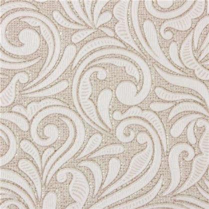 Обои флизелиновые 106х10 м завитки цвет коричневый 0100-63