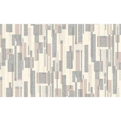 Обои флизелиновые 1.06х10.05 м геометрия цвет серый Па 319-14