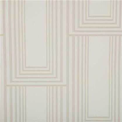 Обои флизелиновые Ар-деко 1.06х10 м цвет белый ED 4376-2