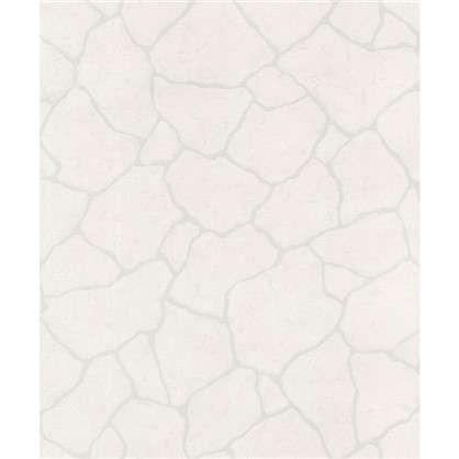 Обои флизелиновые Камни 0.53х10 м цвет белый Па N 1001-11