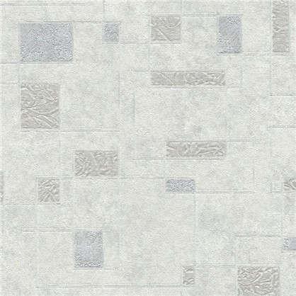 Обои Геометрия 5 на флизелиновой основе цвет серебрянный 1.06х10 м