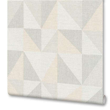 Обои Геометрия АС351812 флизелиновые цвет серый 0.53х10 м