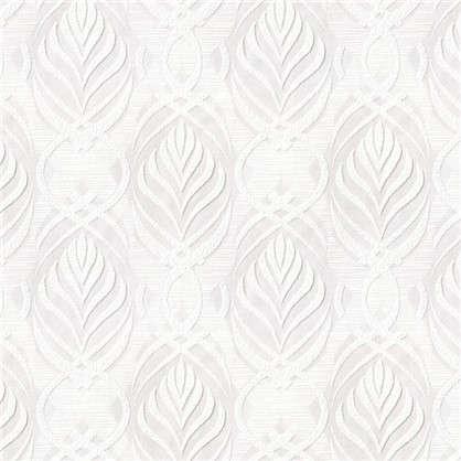 Обои Индиго 16-80 на флизелиновой основе цвет белый 1.06х10 м