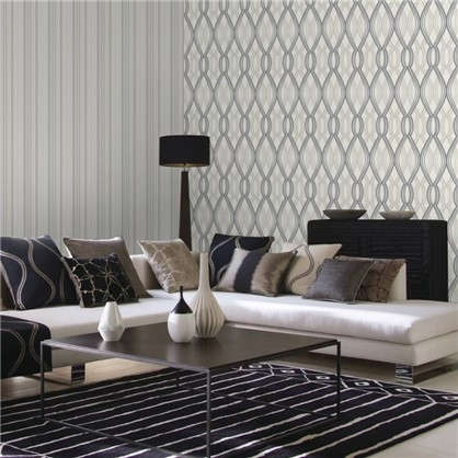 Обои Infinity ED1151-17 флизелиновые цвет серый 1.06х10 м
