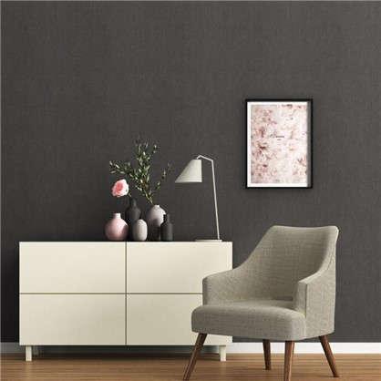 Обои Inspire Anna виниловые на флизелиновой основе цвет черный 1.06x10 м