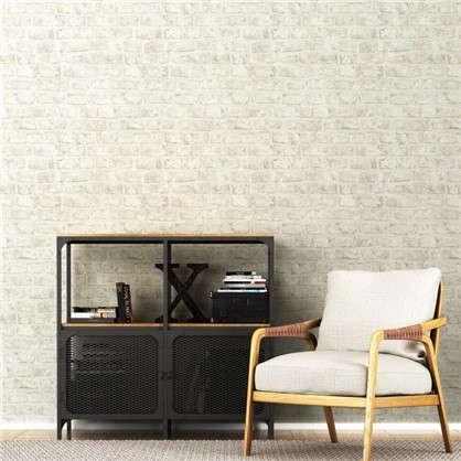 Обои Inspire Brick виниловые на флизелиновой основе цвет белый 0.53x10 м