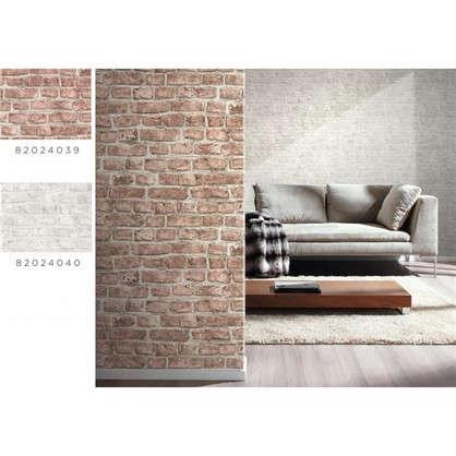 Обои Inspire Brick виниловые на флизелиновой основе цвет красный 0.53x10 м