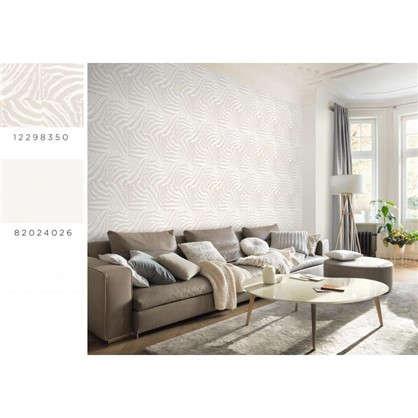Обои Inspire Carolyn виниловые на флизелиновой основе цвет белый 1.06x10 м
