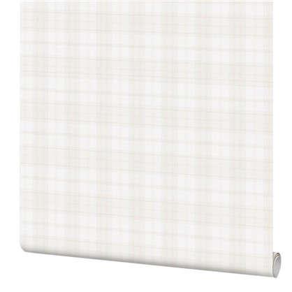 Обои Inspire Check виниловые на флизелиновой основе цвет белый 1.06x10 м